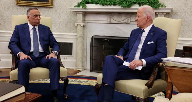 """بايدن يعلن انتهاء """"المهمة القتالية"""" للأمريكيين في العراق وبدء """"مرحلة جديدة"""" من التعاون العسكري"""