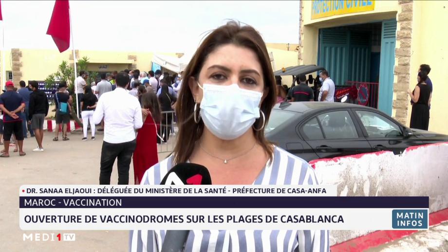 Ouverture de vaccinodromes sur les plages de Casablanca