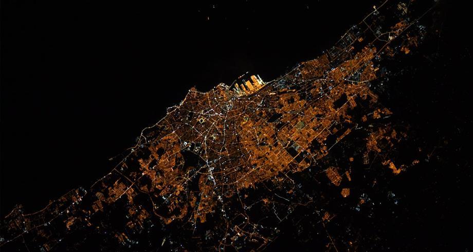 رائد فضاء ينشر صورة للدار البيضاء مأخوذة من محطة الفضاء الدولية