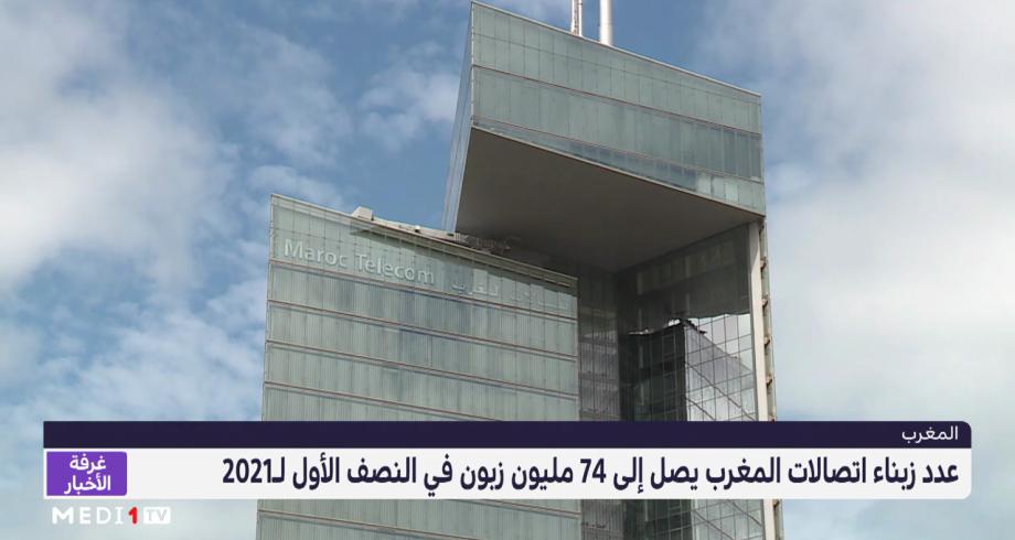 عدد زبناء اتصالات المغرب يصل إلى 74 مليون زبون في النصف الأول لـ2021
