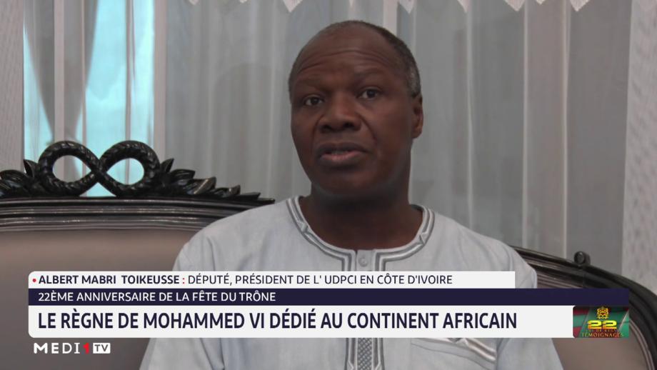 Albert Mabri Toikkeuse: j'exprime ma très haute considération au Roi Mohammed VI
