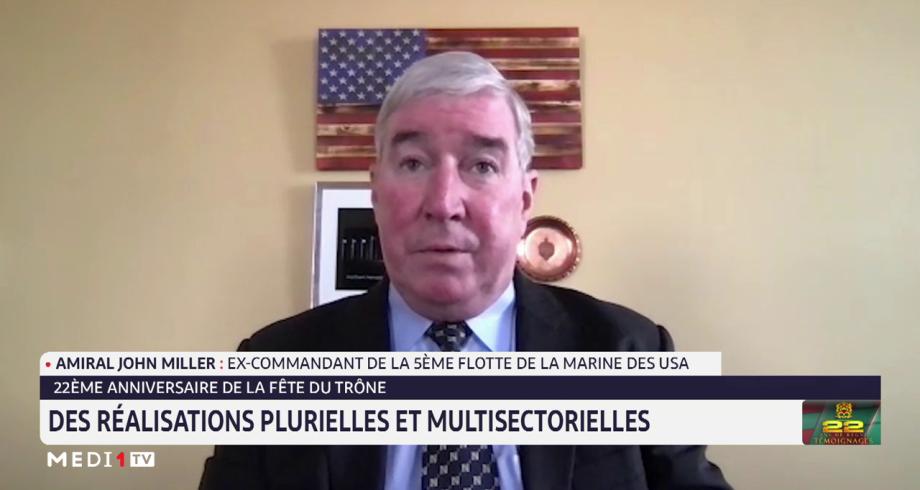 Amiral John Miller: le Maroc est un partenaire majeur pour nous