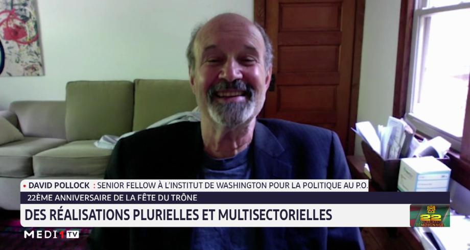 David Pollock: le Maroc est un modèle de stabilité, de prospérité, de tolérance et de fraternité