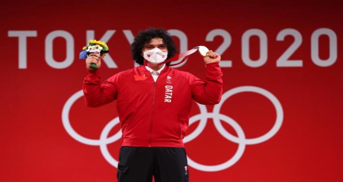 أولمبياد طوكيو- رفع الأثقال: الرباع فارس حسونة يمنح قطر أول ذهبية في تاريخها