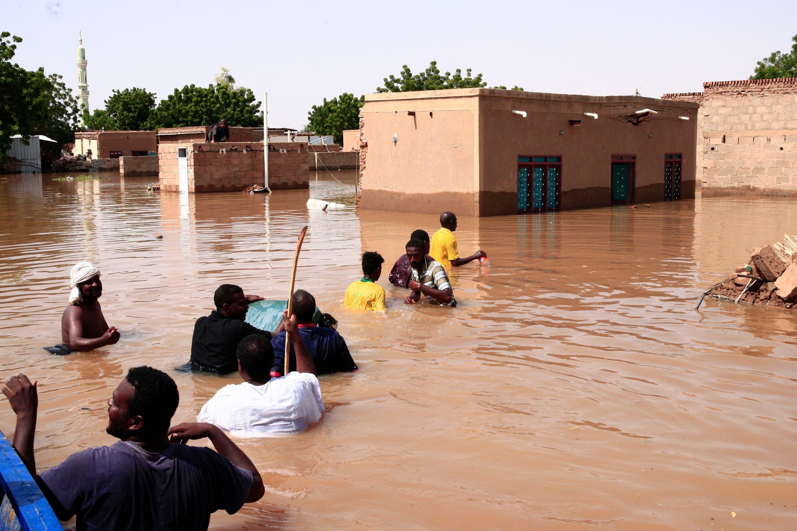 السودان..ارتفاع ضحايا السيول والفيضانات إلى 52 شخصا