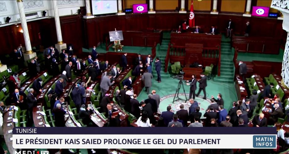 Tunisie: le président Kais Saied prolonge le gel du parlement