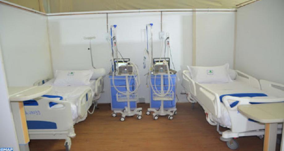 Laâyoune: inauguration d'un hôpital de campagne anti-Coronavirus