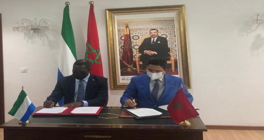 Maroc-Sierra Leone: signature d'une feuille de route pour renforcer la coopération dans plusieurs domaines