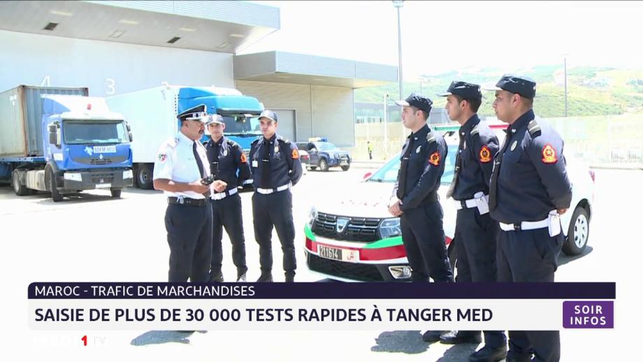 Port Tanger-Med: saisie de plus de 30.000 tests rapides