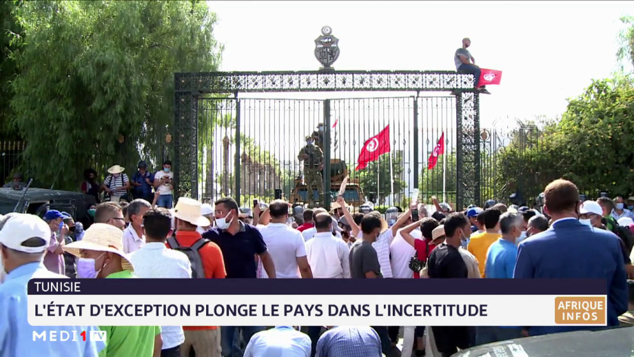 Tunisie: l'état d'exception plonge le pays dans l'incertitude
