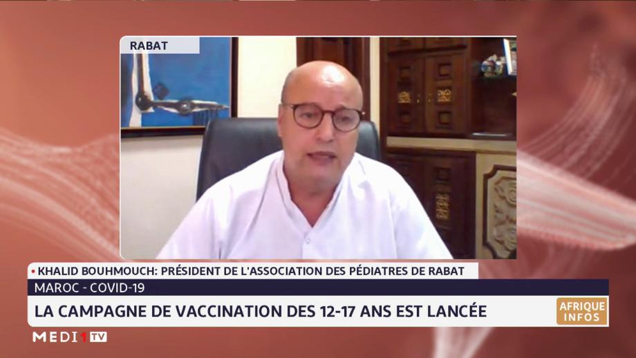 Vaccination des 12-17 ans: les explications du Dr Khalid Bouhmouch