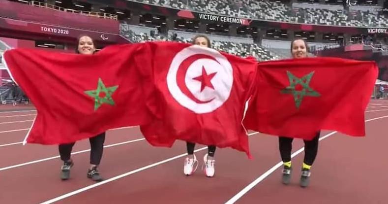 Jeux paralympiques (Lancer du disque/F41): les Marocaines Yousra Karim et Hayat El Garaa remportent respectivement les médailles d'argent et de bronze