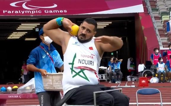 الألعاب الأولمبية الموازية (فئة F34 ) .. المغربي عزالدين النويري يتوج بالميدالية الفضية