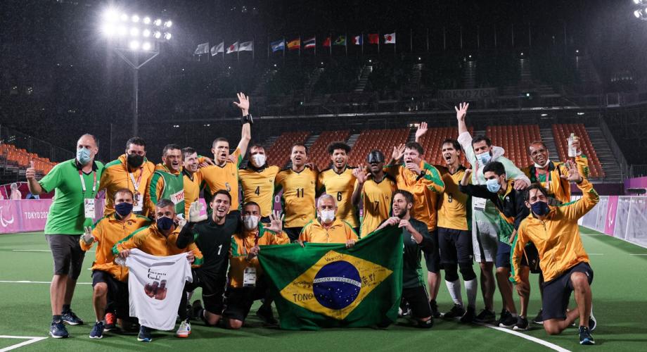 """الألعاب """"البارالمبية"""" .. المنتخب البرازيلي للمكفوفين يتوج بالميدالية الذهبية"""