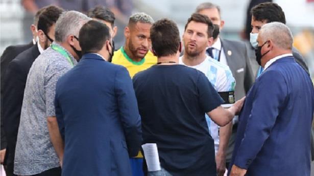 توقف مباراة البرازيل والأرجنتين بسبب مخالفة بروتوكولات كوفيد-19