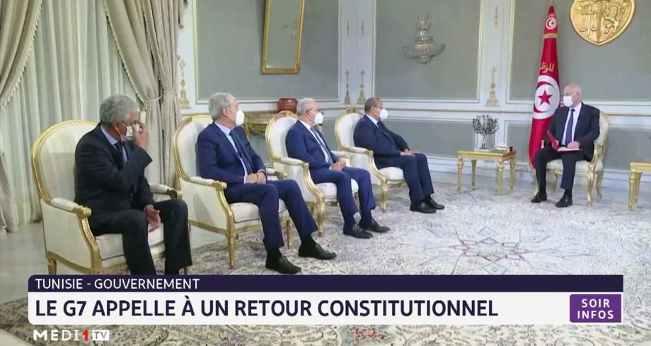 Tunisie: le G7 appelle à un retour constitutionnel