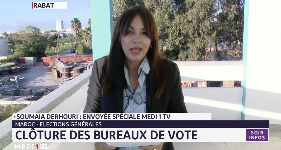 Élections générales: clôture des bureaux de vote