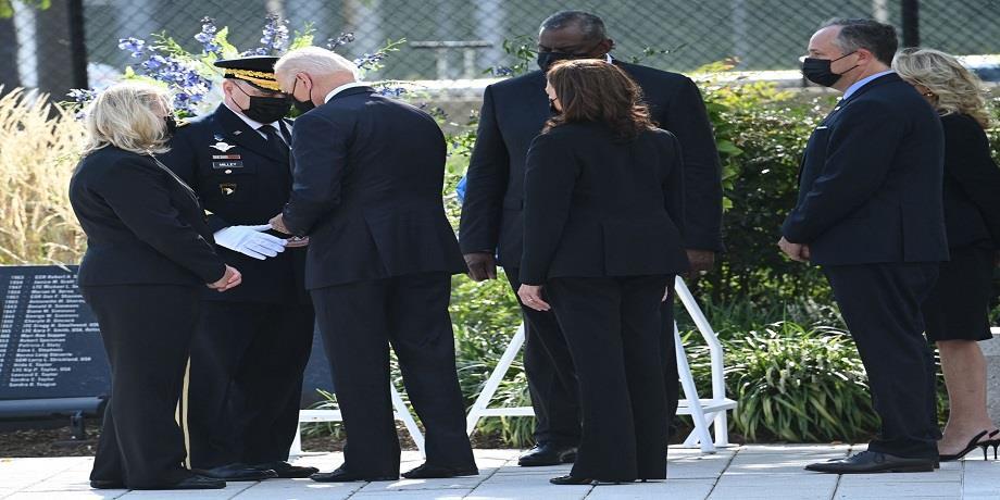 Biden se recueille au Pentagone, dernier acte des commémorations du 11-Septembre