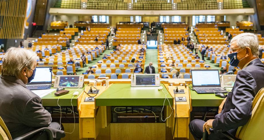 الجمعية العامة للأمم المتحدة.. افتتاح أشغال الدورة الـ76 في ظل استمرار جائحة كوفيد-19