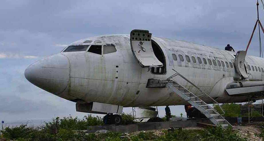 """طائرة """"بوينغ"""" خارجة عن الخدمة تحط في بالي لاستقطاب السياح"""
