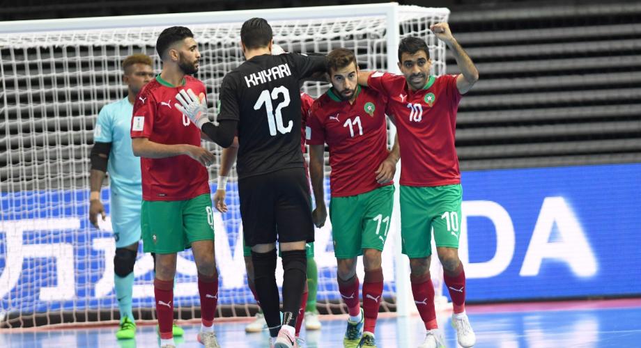 """""""مونديال الفوتسال"""".. المنتخب المغربي يتأهل رسميا الى دور الثمن"""
