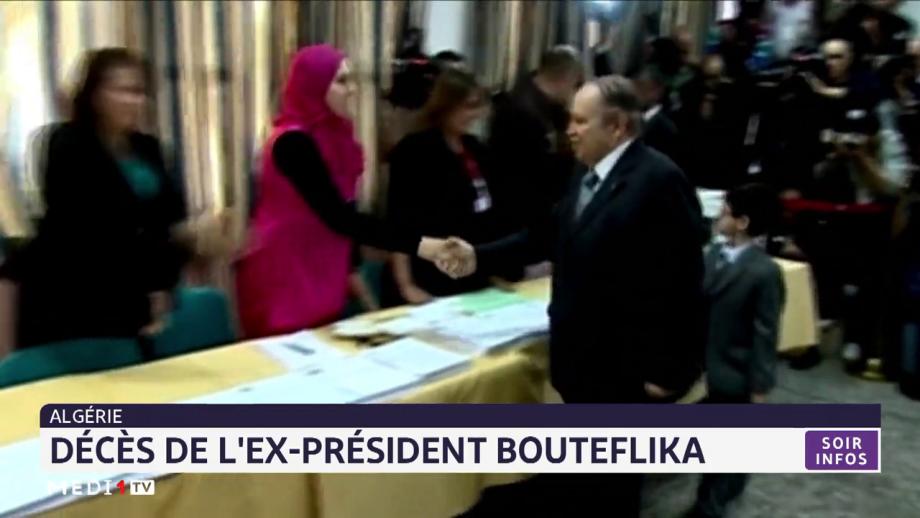 Algérie: décès de l'ex-président Bouteflika