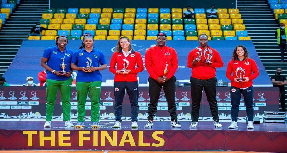CAN de Volleyball/ Dames : les Marocaines Yousra Souidi et Alexandra Erhart récompensées