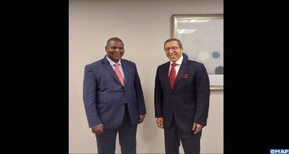 L'ambassadeur Hilale reçu en audience par le président de la République Centrafricaine