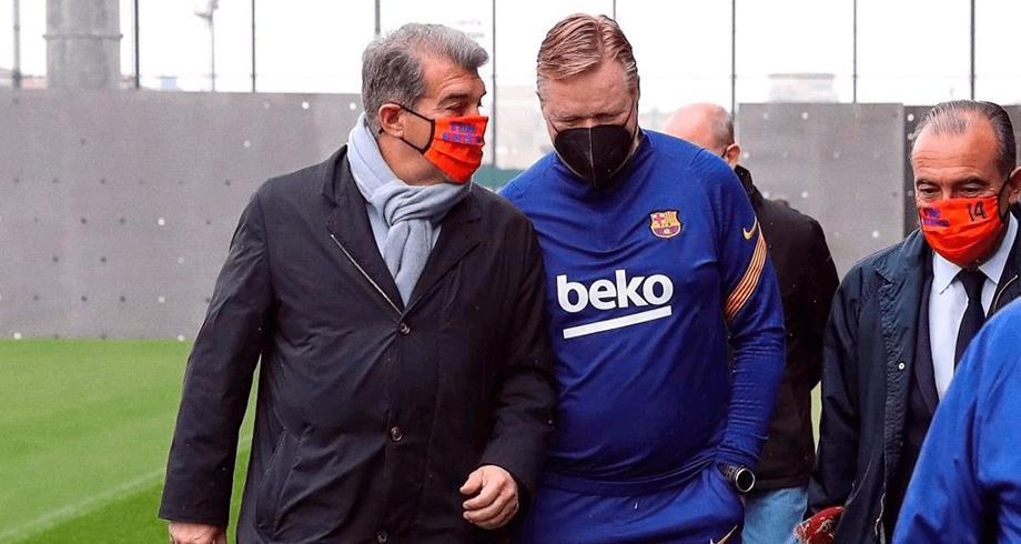 لابورتا يجدد الثقة في كومان مدربا لبرشلونة