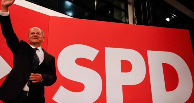 فوز الاشتراكيين الديموقراطيين في الانتخابات التشريعية بألمانيا بنسبة 25,7% من الأصوات