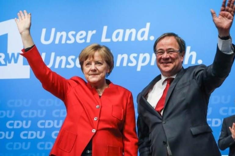 ميركل ولاشيت يهنئان شولتس على فوزه بالانتخابات التشريعية في المانيا