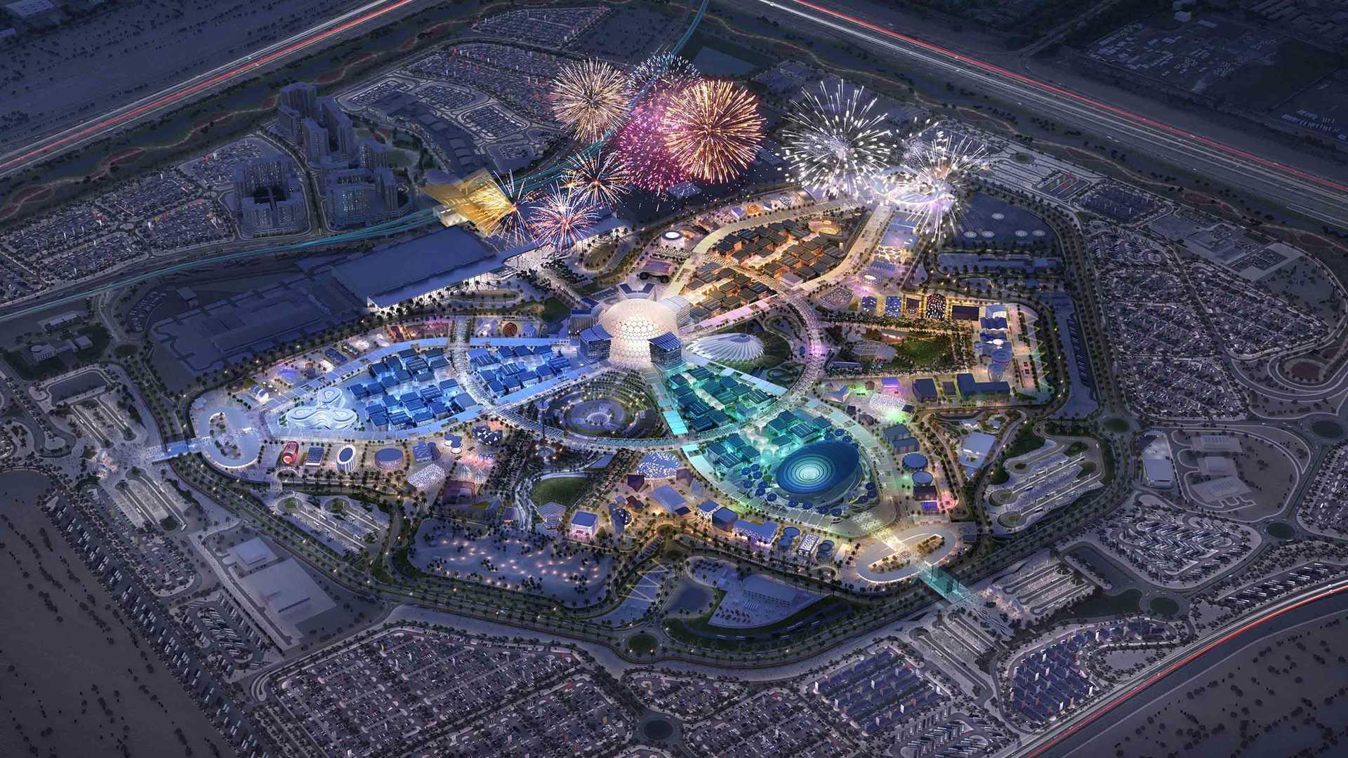 """حفل افتتاح مبهر للمعرض الدولي """"""""إكسبو دبي 2020 """""""