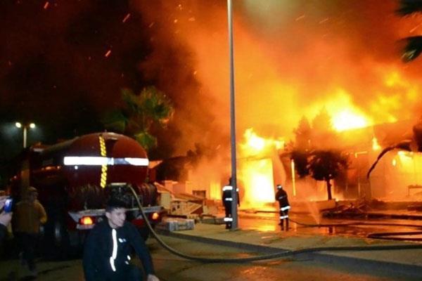 احتواء حريق سوق السمارة بسلا