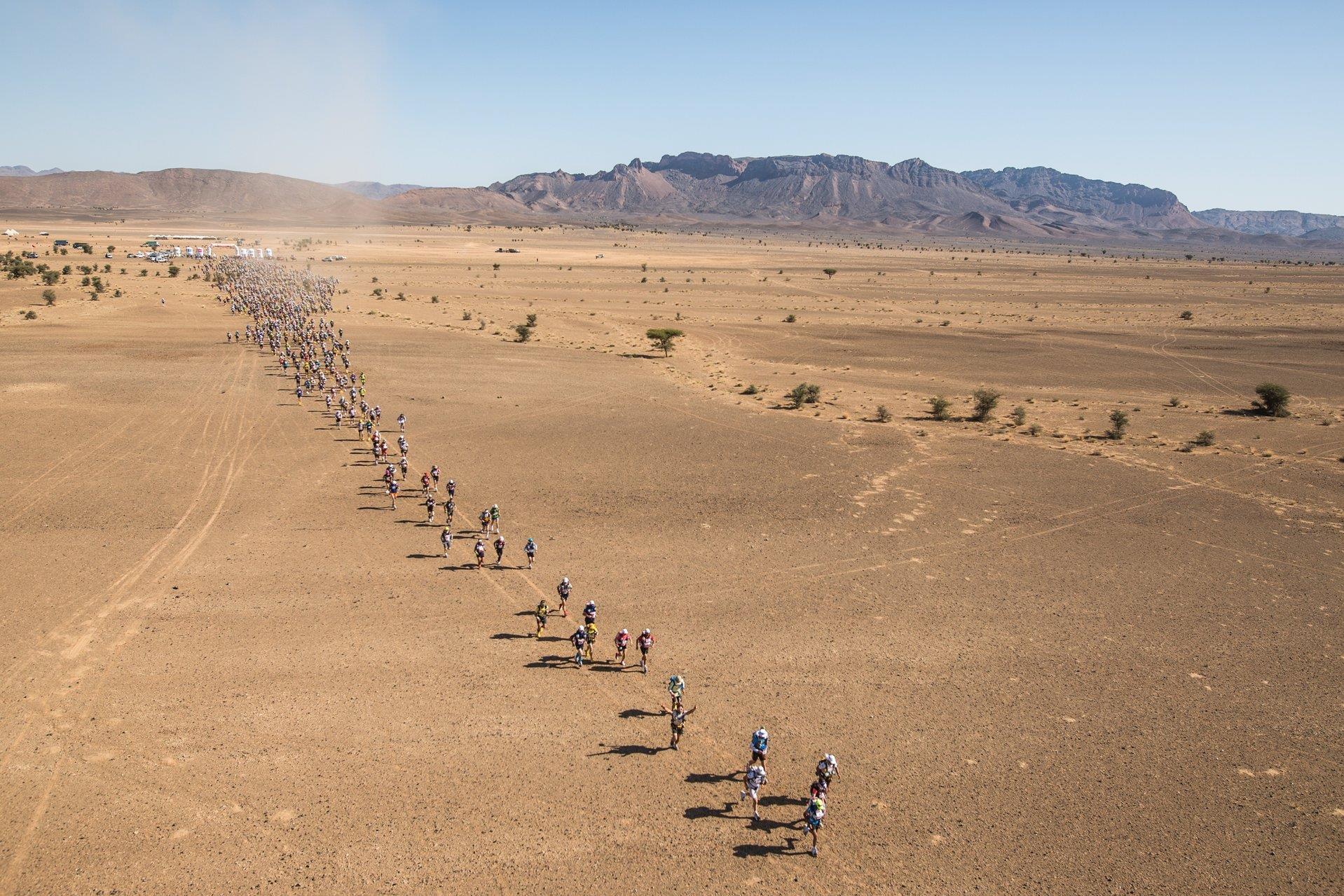 Coup d'envoi de la 35è édition du Marathon des sables