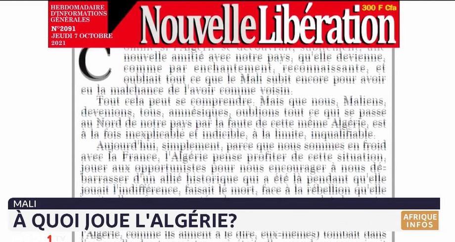 Mali: Makan Koné met en doute la bonne foi de l'Algérie