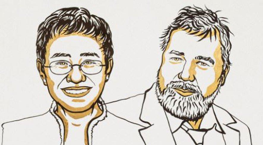 نوبل للسلام للصحافيين ماريا ريسا وديمتري موراتوف