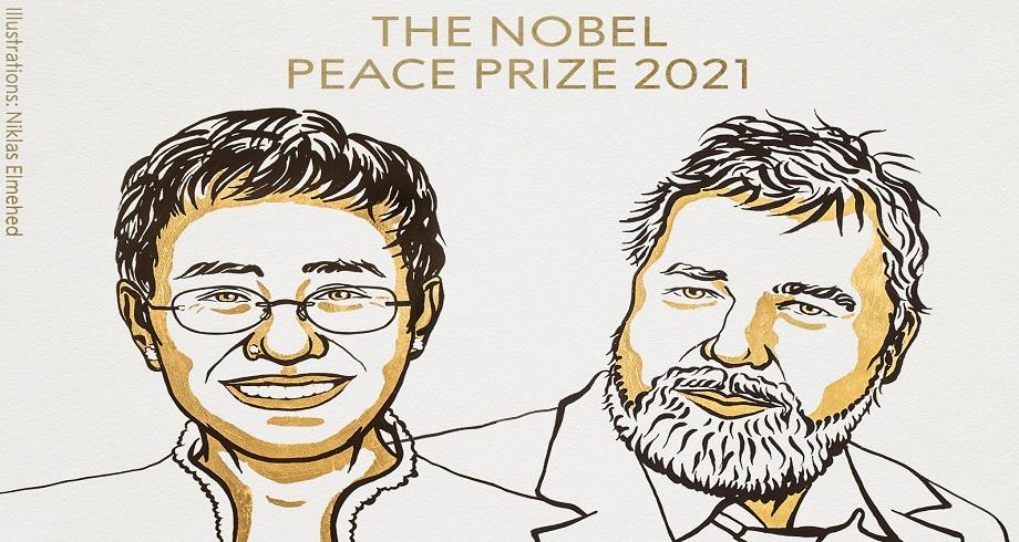Le Nobel de la paix décerné à deux journalistes, une Philippine et un Russe, pour leur combat pour la liberté d'expression