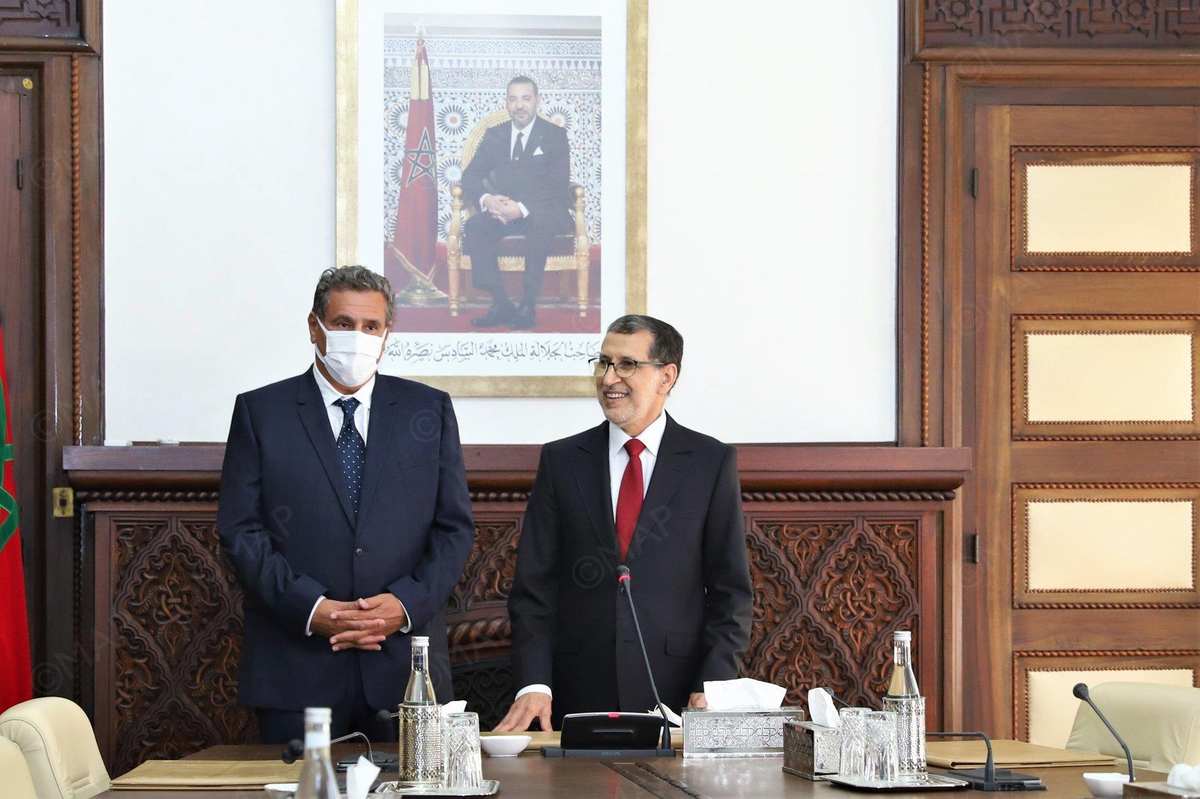 تسليم السلط بين سعد الدين العثماني ورئيس الحكومة الجديد عزيز أخنوش