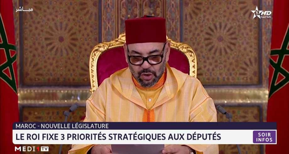 Nouvelle législature: le Roi fixe trois priorités stratégiques aux députés