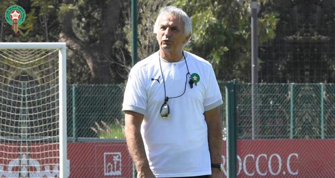 Éliminatoires du Mondial-2022: la déclaration de Halilhodzic avant Maroc-Guinée Bissau