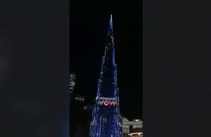 """Projection éblouissante de la nouvelle marque """"Morocco Now"""" sur Burj Khalifa à Dubaï"""