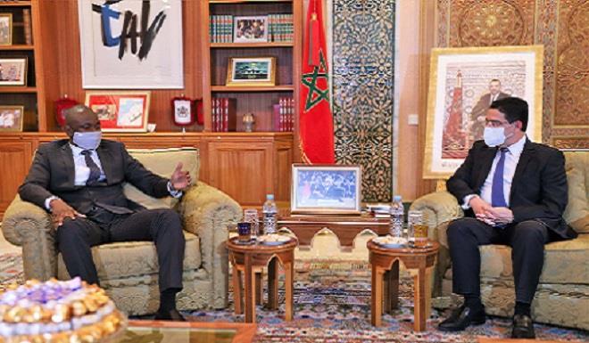 Nasser Bourita reçoit son homologue malien, porteur d'un message écrit au Roi Mohammed VI du président de la transition du Mali