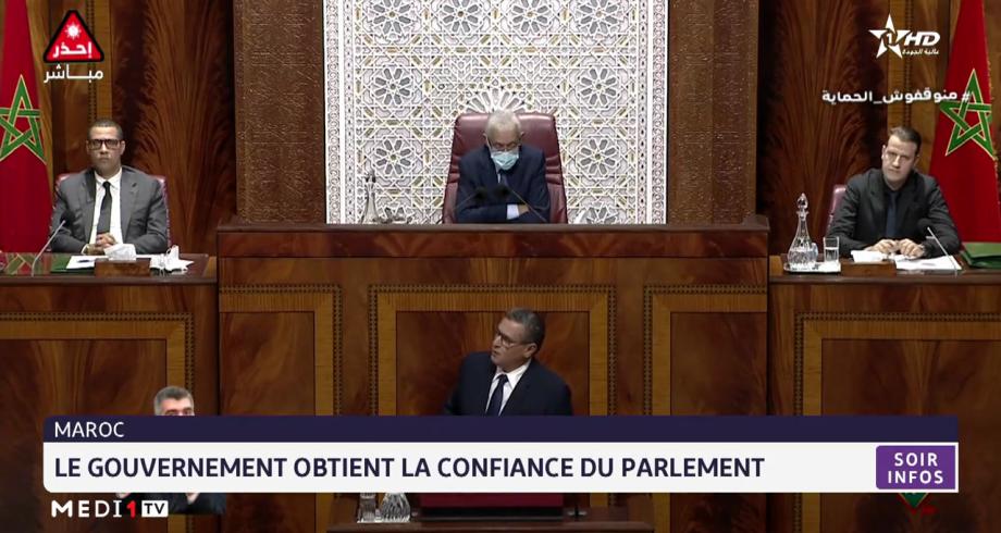 Maroc: le gouvernement obtient la confiance du parlement