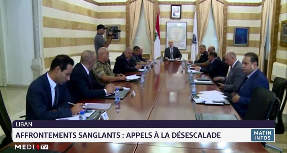 Affrontements sanglants au Liban: appel à la désescalade