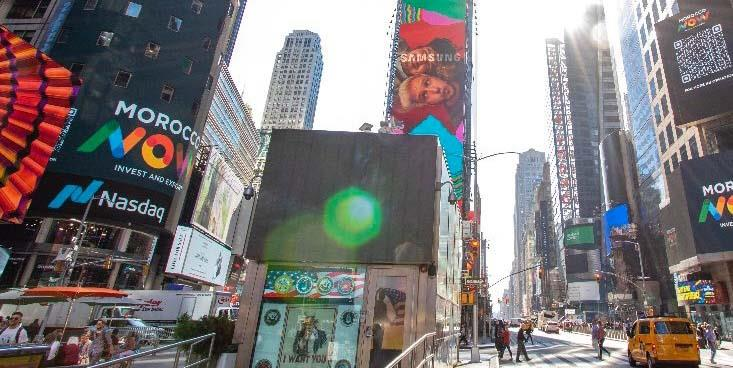 """La marque """"Morocco Now"""" sur les mûrs de la mythique place new-yorkaise """"Time Square"""""""