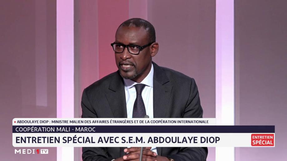 Abdoulaye Diop souligne les liens d'amitié qui lient le Maroc et le Mali et salue les progrès réalisés par le Royaume