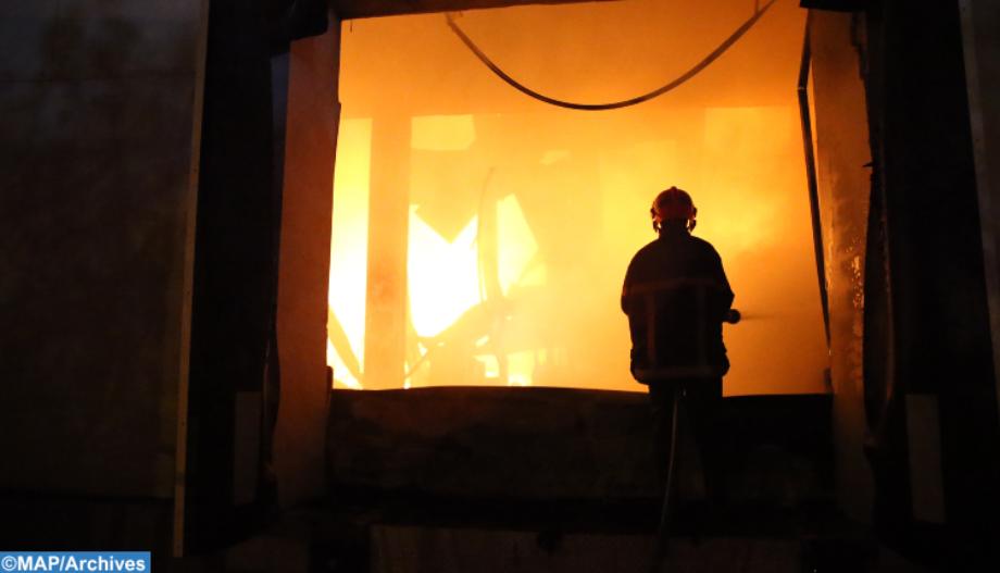 Maitrise d'un incendie dans un marché populaire de Casablanca