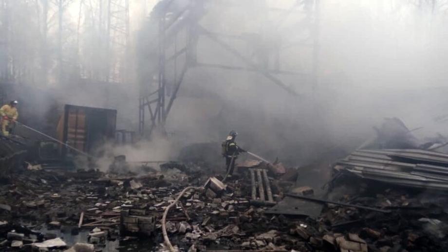ارتفاع حصيلة ضحايا حريق مصنع روسي إلى 15 قتيلا