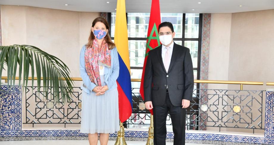 بوريطة يجري مباحثات مع نائبة الرئيس الكولومبي