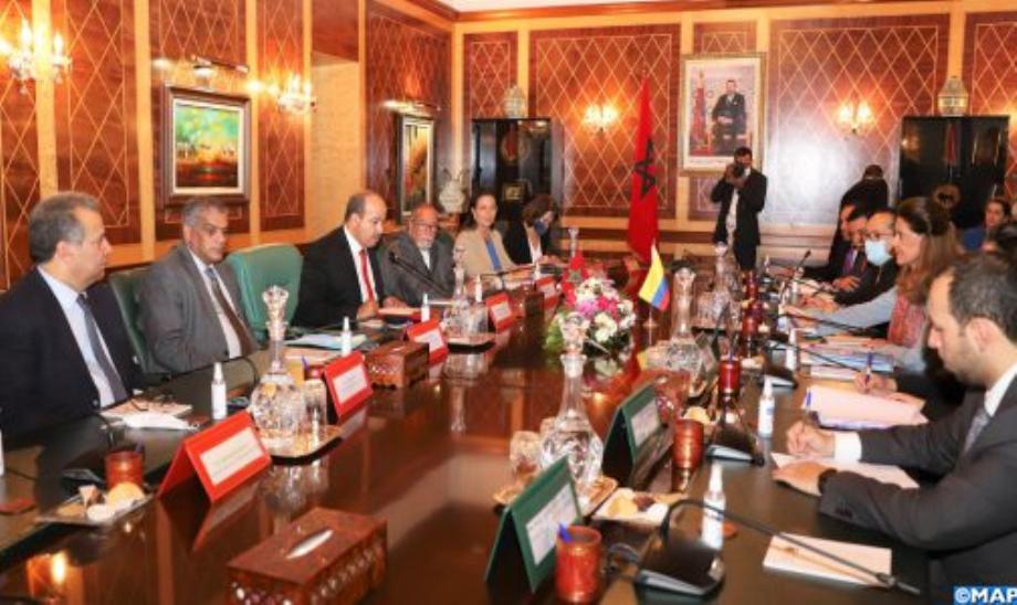 تعزيز التعاون البرلماني محور مباحثات رئيس مجلس المستشارين ونائبة الرئيس الكولومبي